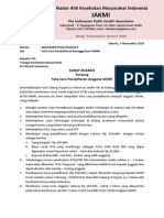 Surat Edaran Tata Cara Pendaftaran Anggota Iakmi - Final