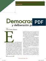 Democracia y Deliberación Pública - CONFLUENCIA XXI 6 2009