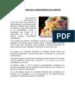 Utilidad Del Nitrogeno en El Almacenamiento de Alimentos
