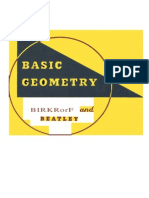 Birkhoff & Beatley. Basic Geometry