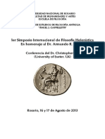 [CONGRESO. 2013] ROSARIO. 1er Simposio Internacional de Filosofía Helenística. Conferencia CHRISTOPHER GILL [Español] (1)