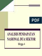 MAKRO Analisis Pendapatan Nasional Dua Sektor