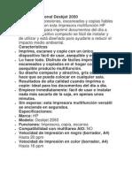HP Multifuncional Deskjet 2050