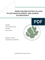 Possible Methods for Preventing Plastc Waste Group 866