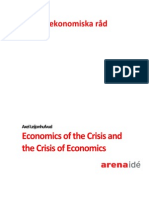Axel Leijonhufvud Economics of the Crisis and the Crisis of Economics