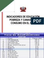 Ppt Nº 5 Indicadores de Educacion, Salud y Vivienda Del Peru