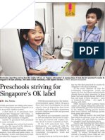 Preschools striving for Singapore's OK label, 17 Jun 2009, Straits Times