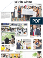 Assisi Hospice's the winner, 9 Nov 2009, Business Times
