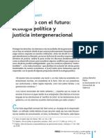 En Dialogo Con El Futuro. Ecologia Politica y Justicia Intergeneracional J Beneite Marti