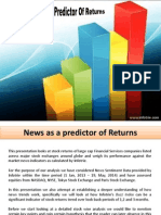 Stock News as a Predictor of Returns