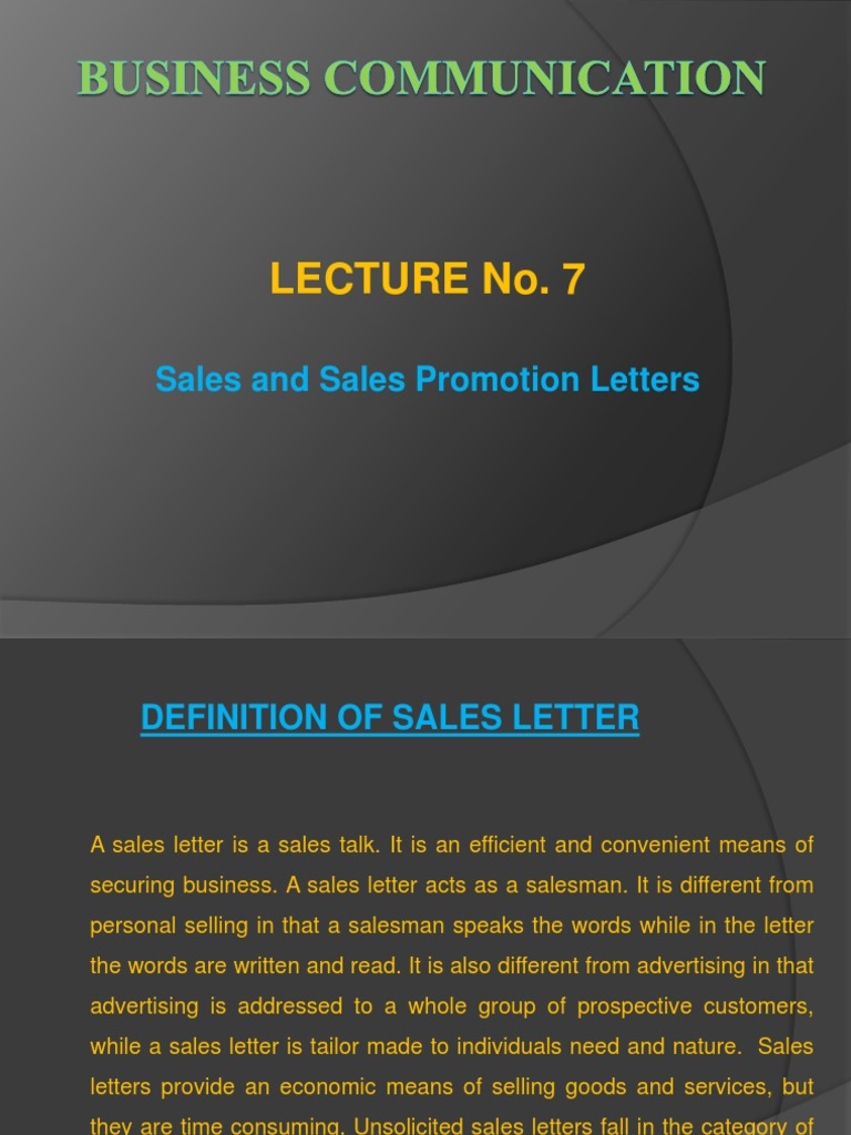 8 sales and sales promotion letterspptx sales advertising sales and sales promotion letterspptx sales advertising altavistaventures Images