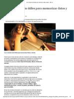 Los Consejos Más Útiles Para Memorizar Datos y Textos - ABC