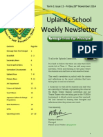 Uplands School Weekly Newsletter - Term 1 Issue 15 - 28 November 2014