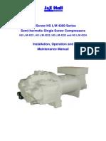 j an e hall screw compressor model 4200 o and m  manual