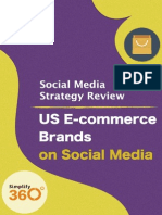 US E-commerce brands on Social Media