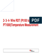 2- 3- 4-Wire RTD Measurement