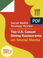 US Casual Dining Restaurants on Social Media
