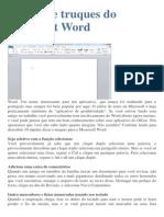 10 Dicas e Truques Do Microsoft Word