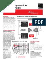 Power Management for Precision Analog