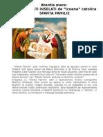 Atentie mare la icoana -Sfanta familie-.doc