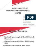 Mahindra and Mahindra Ltd Financial Analysis