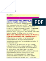 Tv Digital e Htdv