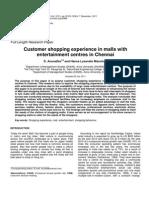 Customer Shopping Experience in Chennai
