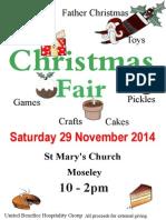 St Mary's and St Anne's Moseley Christmas Fair - 29th Nov 2014