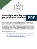Manual Para Configurar Nuestra Privacidad en Facebook