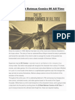 The 25 Best Batman Comics of All Time