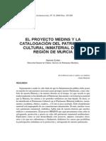 Sobre El Patrimonio Inmaterial en Murcia. Aurora Lema