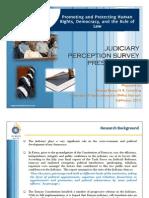 Judiciary Perception Survey (Infotrack and ICJ K)