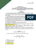 METODOLOGIA de calculare a taxei de studii