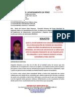 Solicitud IU de Férez en Solidaridad con Alejandro Miranda Campos