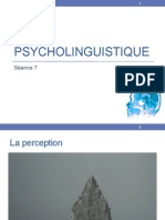 Psycholinguistique - perception