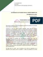 Articulo AUTORIDAD DE LOS PADRES PARA EL COMPORTAMIENTO DE  LOS NIÑOS EN  EL AULA Viviana Definitivo Imprimir