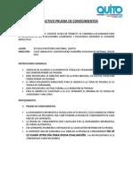 Instruct Ivo Prueba sINSTRUCTIVO PARA RENDIR LAS PRUEBAS DE CONOCIMIENTO AMT