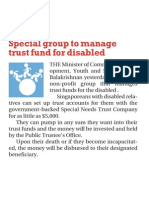 Special group to manage trust fund for disabled, 30 Oct 2009, The New Paper