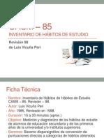 1 CASM 85 Habitos Estudios