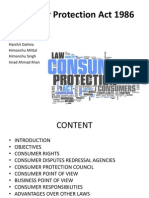 FinalConsumer Protection Act 1986