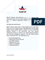 Training and Development Project on Warid