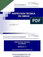 Inspeccion Tecnica en Obras Clase 7