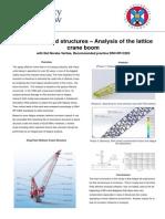 Offshore Latticed Structures - Analysis of the Lattice Crane Boom