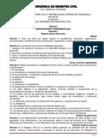 Ley Orgánica de Registro Civil