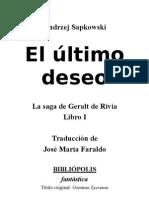 Geralt de Rivia 01-El Último Deseo