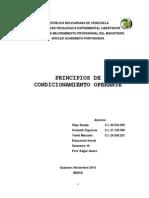 Principios de Condicionamiento Operante