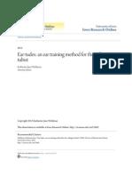 Ear-tudes- An Ear Training Method for the Collegiate Tubist