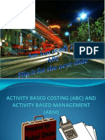 Activity Based Costing (ABC).