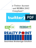 Is Your Twitter Account RECO and REBBA 2002 Compliant?