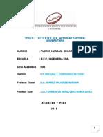 Informe de Actividad Pastoral Universitaria i